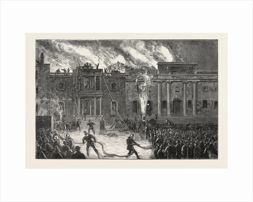 Destruction of the County Hall, Nottingham, by Fire by Anonymous