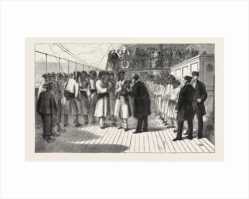 Vaccinating the Crew of a P. And O. Steamer at Victoria by Anonymous
