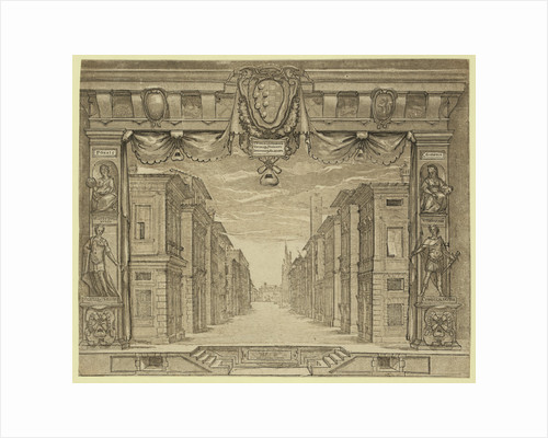 Stage Design for L'Ortensio, 1589, Bolsi, Girolamo by Anonymous