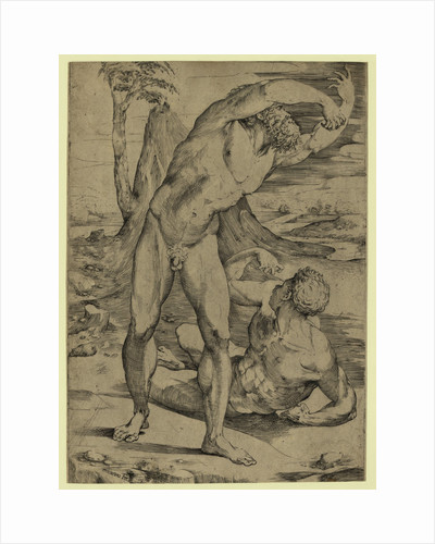 Two Nude Men: One Standing, One Reclining by Anonymous