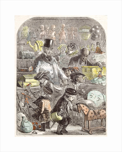 New Year's Gifts the Toyshop Jackson Children 1860 by Anonymous
