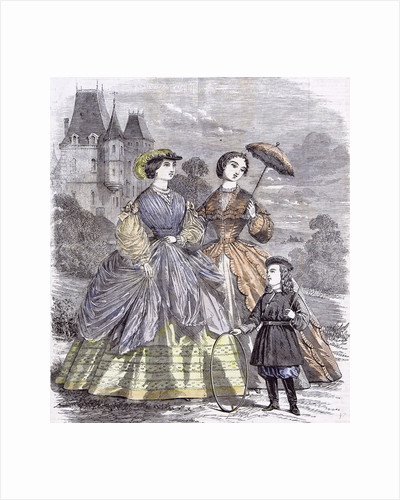 The Paris Fashions for June Child 1860 by Anonymous