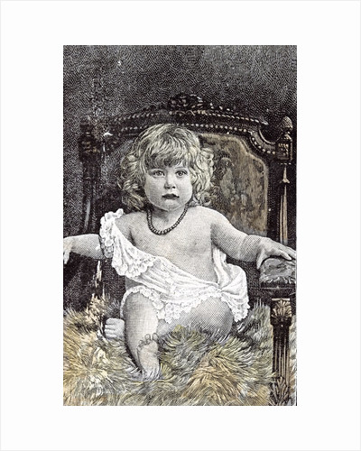 Girl in a Chair Hackney London 1892 by Anonymous