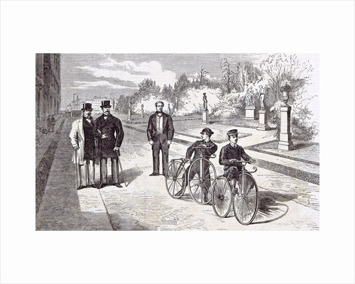 Bicycles in the Garden of the Tuileries Paris 1869 by Anonymous