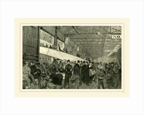 New York, 1891, Custom officers examining the baggage. Arrival of a steamer by Anonymous