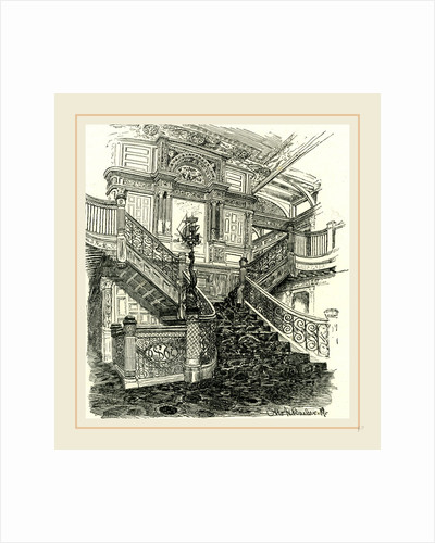 A Staircase of the Steamer Puritan, 1891 by Anonymous