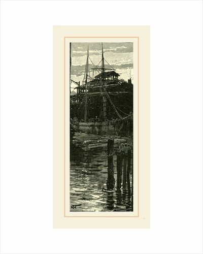 Harbour and Wharves of Salem, New England, 19th century by Anonymous