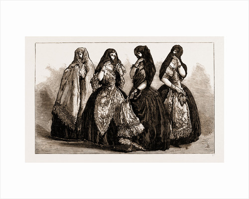 La Tapada: Old-fashioned Costume Of Lima Ladies, Peru by Anonymous