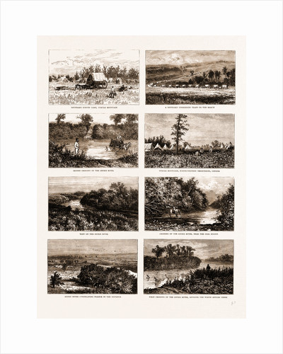 British North America (canada), 1881: On The South-western Frontier: Boundary Survey Camp by Anonymous