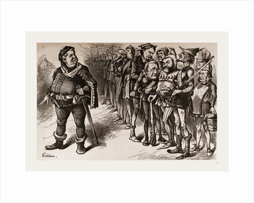 Falstaff Hancock And His Ragged Regiment by Anonymous