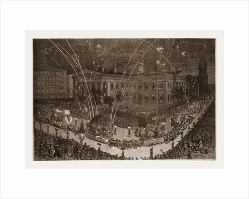 The St. Louis Fair—procession Of  The Veiled Prophets by Anonymous