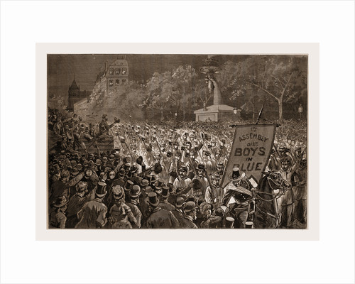 Republican Enthusiasm in New York-the Grand Procession of October 11 Passing the Review Stand, 1880 by Anonymous