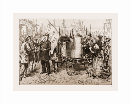 Dr. Kennion's Street Coffee-urn Cart-a Good Temperance Movement by W.A. Rogers