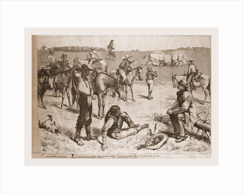 Among the Cow Boys, Betting the Bull Fight, 1880 by Anonymous