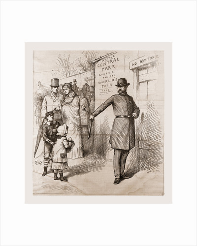The People's Pleasure-ground Appropriated, 1880, USA by Anonymous