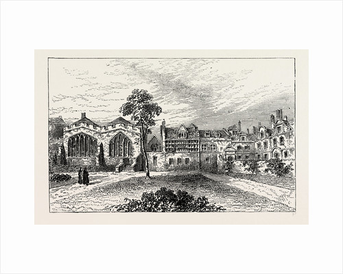 St. Helen's Priory, And Leathersellers' Hall, View by Malcolm in 1799 by Anonymous