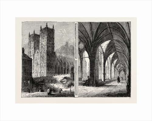 The Western Towers And Cloisters of Westminster Abbey by Anonymous