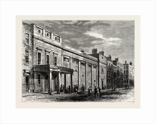 Exterior of the Tottenham Street Theatre, 1830 by Anonymous