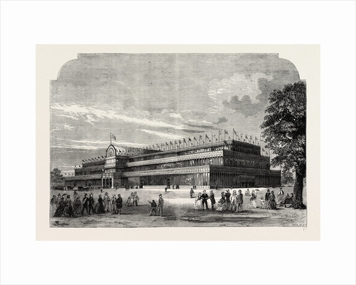 Exterior of the Great Exhibition of 1851 by Anonymous
