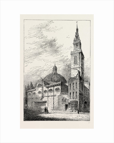 Exterior of St. Stephen's, Walbrook, in 1700 by Anonymous