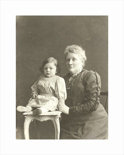 Studio Portrait of mother with daughter by Anonymous
