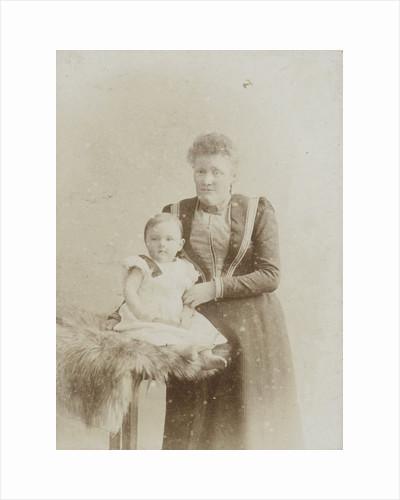 Studio portrait of mother with baby daughter by C.J.L. Vermeulen