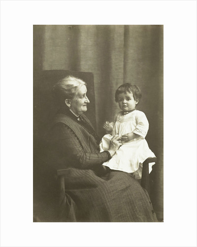 Marba Titzenthaler, daughter of the photographer, with an unknown old woman by Waldemar Titzenthaler