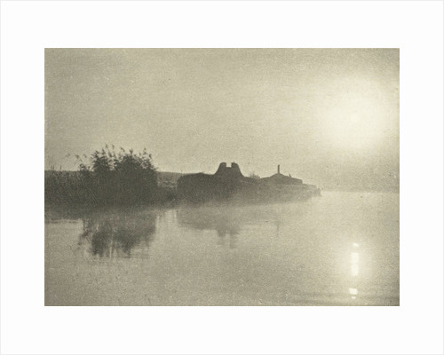 River Landscape in the Mist at dawn by Peter Henry Emerson