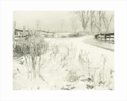 Winter landscape in the countryside by William B. Post