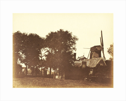 Landscape with a mill and houses on the water in Zaandam by Anonymous