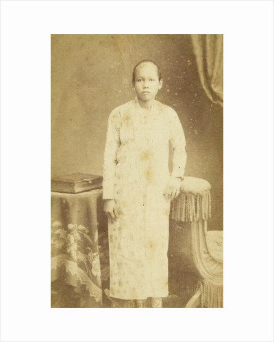 Studio Portrait of Sacra, the Indian servant of the family Kessler by Woodbury & Page
