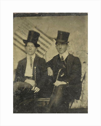 Portrait of two men on a bench by Anonymous