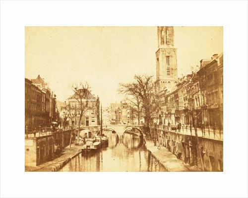 Oudegracht in Utrecht, the Dom Tower, Domtoren, in the background by Henry Pauw van Wieldrecht