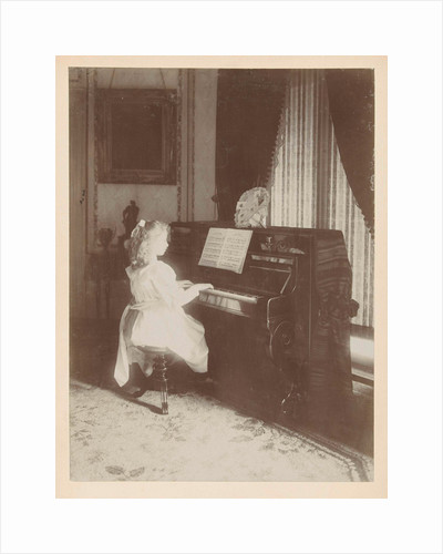 unknown girl playing the piano by Henry Pauw van Wieldrecht