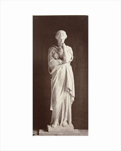 Marble statue of a woman in gown, Louis-Emile Duran Delle by Louis-Emile Durandelle