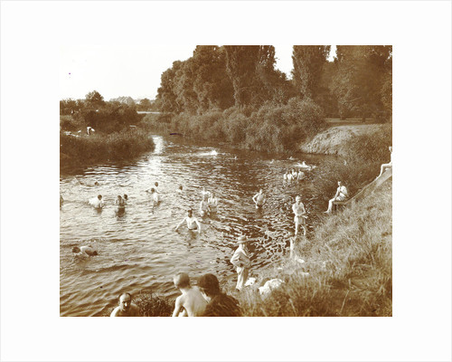 people Swimming in a river by Anonymous
