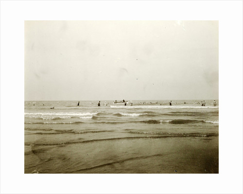 Sea North Sea, the Netherlands or Germany, with people swimming by Anonymous