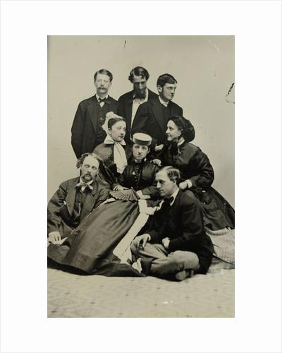 Group portrait of three women and five men by Edward M. Estabrooke