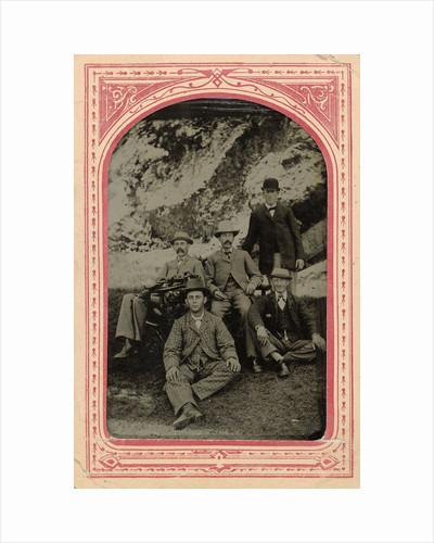 Group portrait of five men, Rocky Point (Amusement Park) by John Hiram Aylsworth