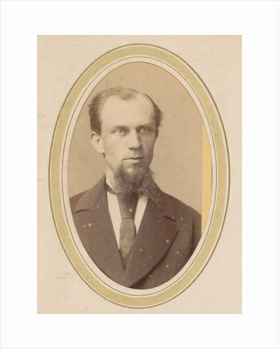 Portrait of a man with a beard and a tie by J.C. Reesinck