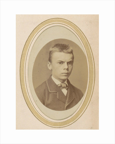 Portrait of a young man with a jacket and a tie by Albert Greiner