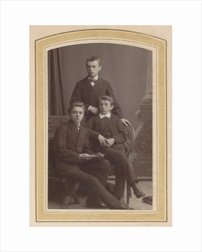 Portrait of three boys by Albert Greiner