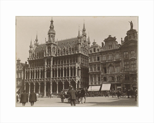 Bread House, Brood huis, with adjacent buildings on the Grand Place in Brussels by Anonymous