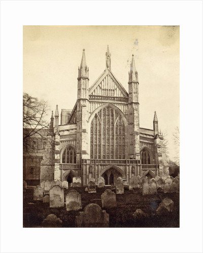 Rear and Cemetery of Winchester Cathedral by Anonymous