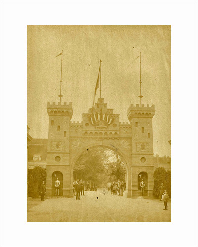 Triumphal arch near the Groote Houtbrug, giving access to den Hout, Haarlem by Anonymous