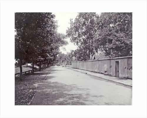 Road along the Roman Catholic Church of Surabaya by Anonymous