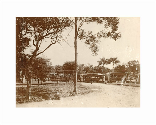 Waiting tram stop at the Hotel des Indes in Batavia, Indonesia by Anonymous