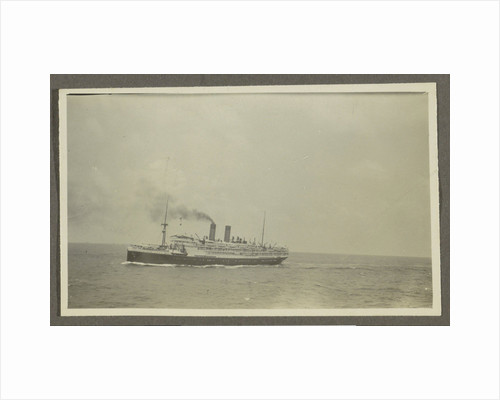 Passenger with a smoking chimney at sea by Anonymous