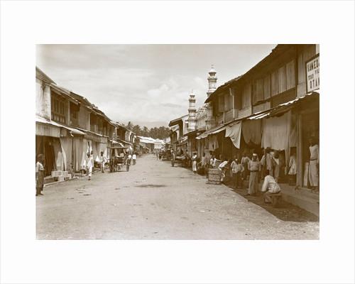 Padang street Klingalese district by Christiaan Benjamin Nieuwenhuis