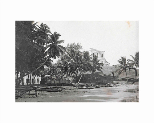 Ceylon in Colombo beach with boats and villas, Sri Lanka by Anonymous